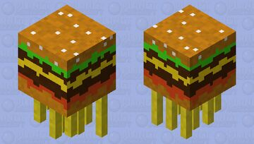 Burger ghast with fries Minecraft Mob Skin