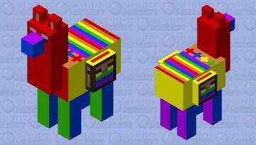 Colorful Llama edited Minecraft Mob Skin