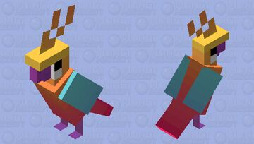 Tropical Sunset Parrot + RESULTS Minecraft Mob Skin