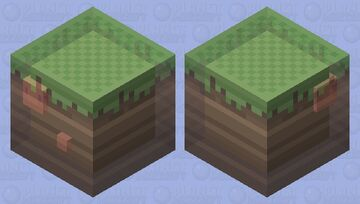 New Dirt block design || With a worm on the inside || [HD] Minecraft Mob Skin