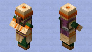 This villager may look normal, but will kill anything that attacks it in sight Minecraft Mob Skin