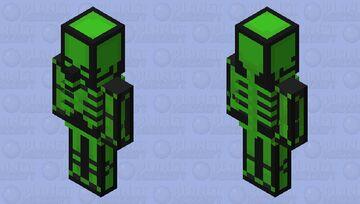 Spooky Scary Green Skeleton Minecraft Mob Skin
