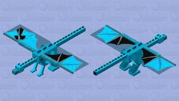 ABSOLUTELY AMAZING Ice Dragon Skin Minecraft Mob Skin