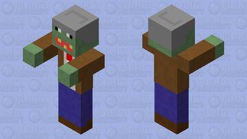PVZ bucket-head zombie Minecraft Mob Skin