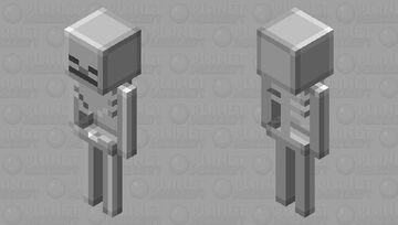 Plastic Skeleton Minecraft Mob Skin