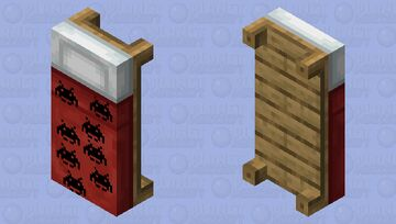 Game on red bed Minecraft Mob Skin