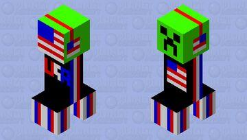 American Creeper Minecraft Mob Skin