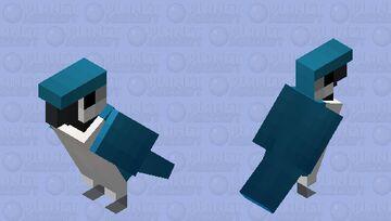 Arara-canindé azul e branca Minecraft Mob Skin