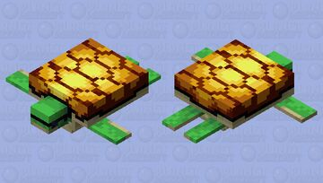 Bling Turtle Minecraft Mob Skin