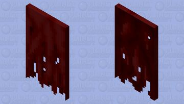 Tattered Red Cape Minecraft Mob Skin