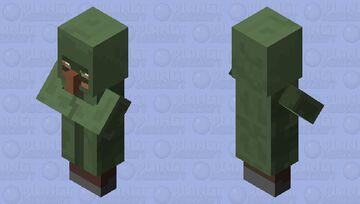 Nitwit the villain Minecraft Mob Skin