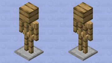 Amour stand with Helmet Holder Minecraft Mob Skin