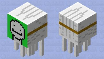totally not dream, just a normal ghast Minecraft Mob Skin