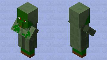 Friendly villager zombie Minecraft Mob Skin