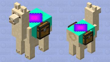 Llama with special carpet Minecraft Mob Skin