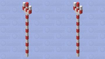Candy Cane Trident Minecraft Mob Skin