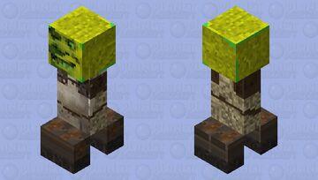 Shrek Creeper Minecraft Mob Skin
