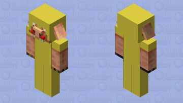 Danger piglin ( full gold armour brass knuckles and red teeth ) Minecraft Mob Skin