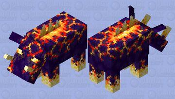 Volcanic Hoglin Minecraft Mob Skin
