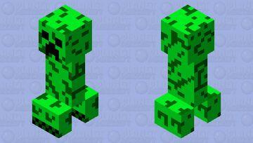 Tri-colored Creeper Minecraft Mob Skin