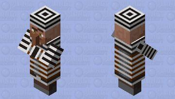 Villager Criminal in a Straitjacket Minecraft Mob Skin