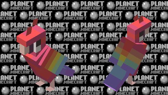 lgbtq+ flag · gay︱pride parrots Minecraft Skin