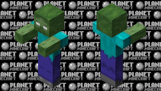Herobrine zombie Minecraft Skin