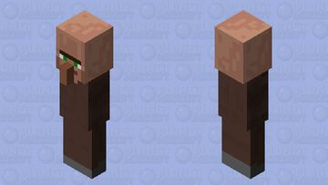 Armless Villager Minecraft Mob Skin