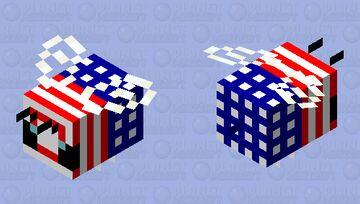 America bee Minecraft Mob Skin