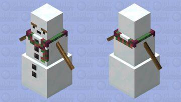 Grumpy Snowman Minecraft Mob Skin