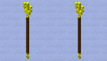 The magical staff of the Ardoni Minecraft Mob Skin