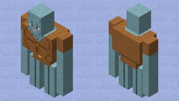 Handsome Squidward Minecraft Mob Skin