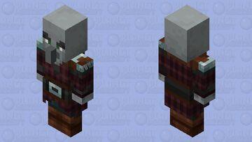 Pillager with Vindicator Model Minecraft Mob Skin