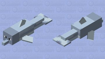 Silly dolphin Minecraft Mob Skin