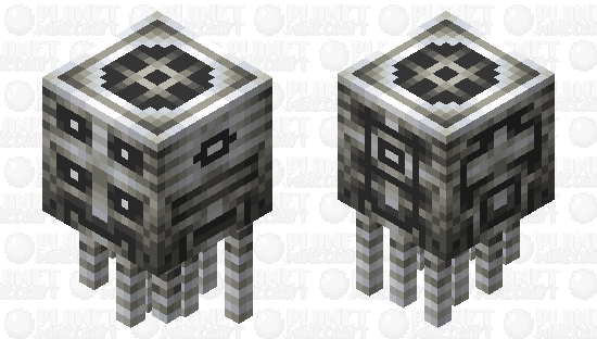 The marble head with many faces Minecraft Skin