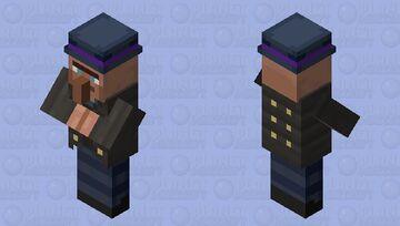 John: The Diamond-eyed Villager Minecraft Mob Skin