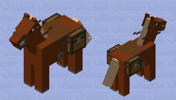 simplified horse Minecraft Mob Skin
