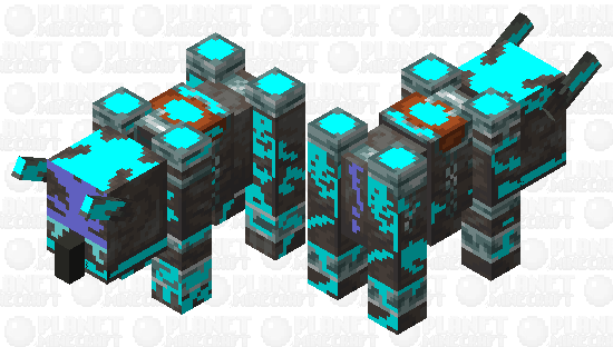 soul charged Ravager Minecraft Skin