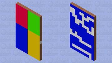 Windows 7 Cape Minecraft Mob Skin