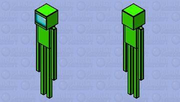 HD Enderman Among Us lime Minecraft Mob Skin