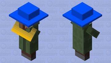 Villager with blue hat Minecraft Mob Skin