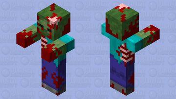 Bloody Zombie Minecraft Mob Skin