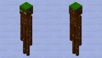Grassy Enderman Minecraft Mob Skin