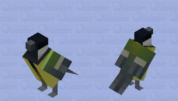 Chapim-real (Parus major) Minecraft Mob Skin