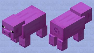 Purple Pig Minecraft Mob Skin