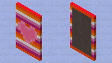 Pride Capes! #2 ~ Lesbian Pride Minecraft Mob Skin