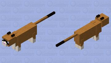 Snowshoe Cat Minecraft Mob Skin