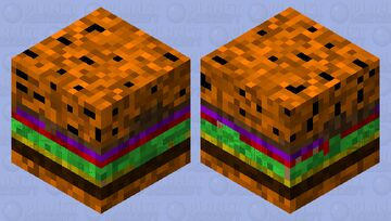 Cheese burger and secret Minecraft Mob Skin