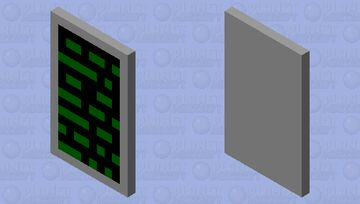 computer text cape Minecraft Mob Skin