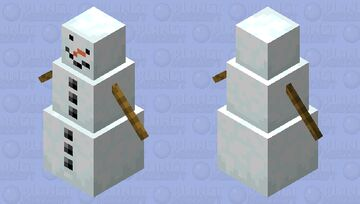 A nosed Snow Golem. Minecraft Mob Skin